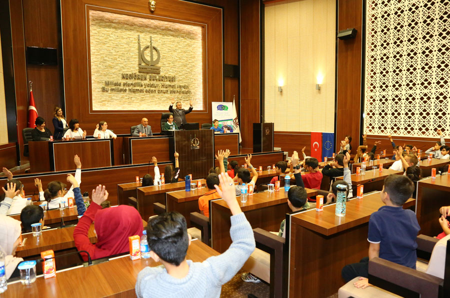 CHILDREN`S ASSEMBLY GATHERED AT KEÇİÖREN WITH THE PARTICIPATION OF MAYOR ALTINOK