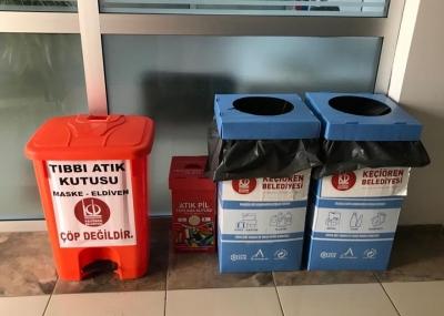 Keçiören Belediyesinden çevre kirliliğine tıbbi atık kutulu önlem