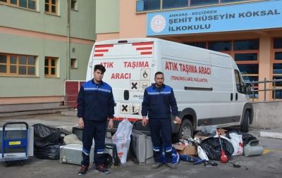 Keçiören'de 2 ton elektronik atık geri dönüşüme kazandırıldı