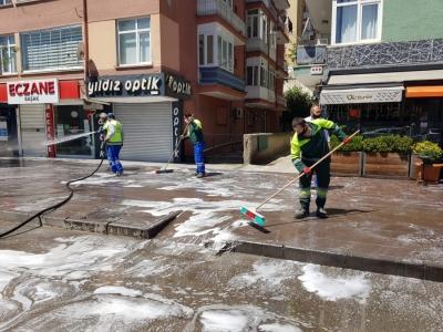 Keçiören'de cadde ve sokak temizliği bayram boyunca devam etti