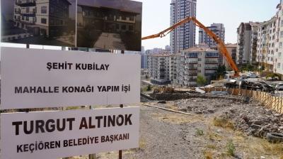 Keçiören'de yeni mahalle konağının temelleri atıldı
