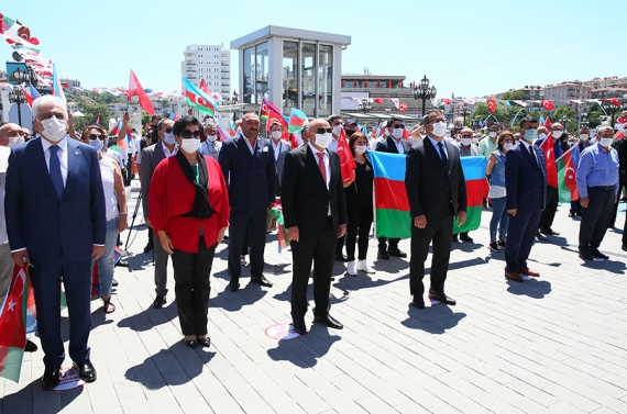 Başkan Altınok: Sonuna kadar Azerbaycanlı kardeşlerimizin yanındayız