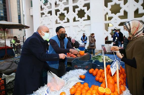 Başkan Altınok'tan semt pazarlarına kesintisiz denetim