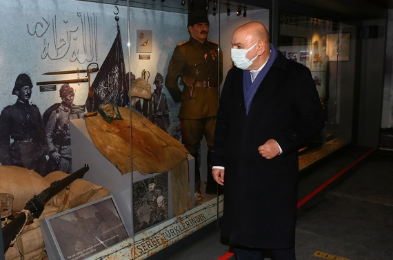 Çanakkale Savaşları Mobil Müzesi'ne Başkan Altınok'tan tam destek