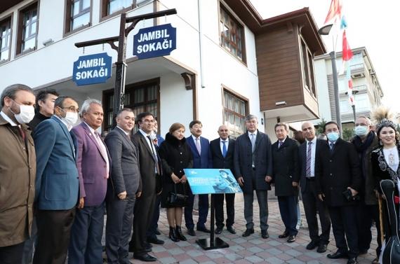 Kazak şair Jabayev'in ismi Keçiören'de yaşatılıyor
