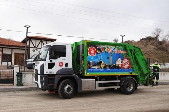 Keçiören'de günlük 950 ton çöp toplanıyor