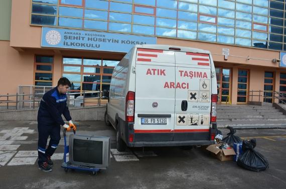 Keçiören'deki okullar elektronik atık için yarışıyor